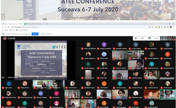 Участь у Міжнародній конференції ATEE-2020 «Teacher Education for Promoting Well-being in School»